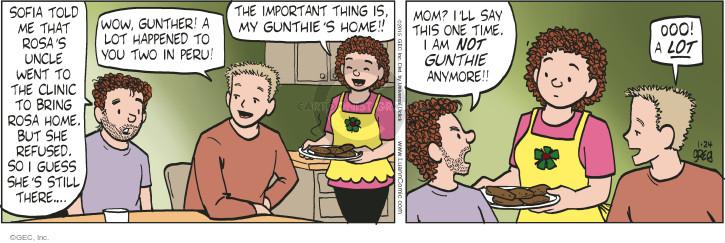 Cartoonist Greg Evans  Luann 2015-01-24 Rosa