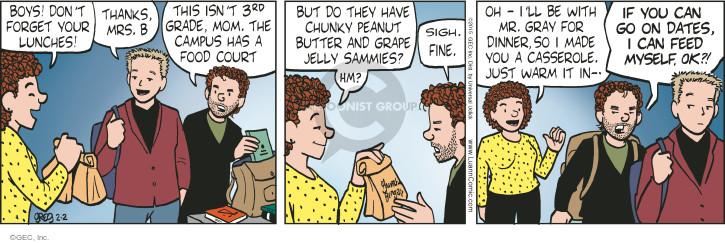Comic Strip Greg Evans  Luann 2015-02-02 sigh