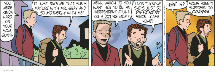 Comic Strip Greg Evans  Luann 2015-02-03 changing