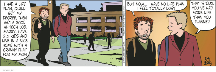 Comic Strip Greg Evans  Luann 2015-02-06 get a life