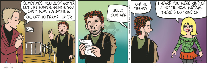 Comic Strip Greg Evans  Luann 2015-02-07 drama
