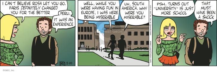 Comic Strip Greg Evans  Luann 2015-02-10 changes