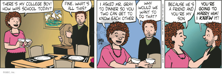 Comic Strip Greg Evans  Luann 2015-02-16 mom