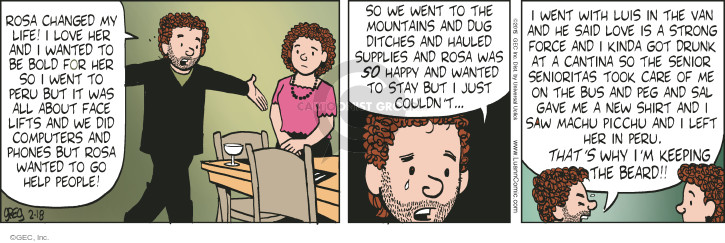 Comic Strip Greg Evans  Luann 2015-02-18 face