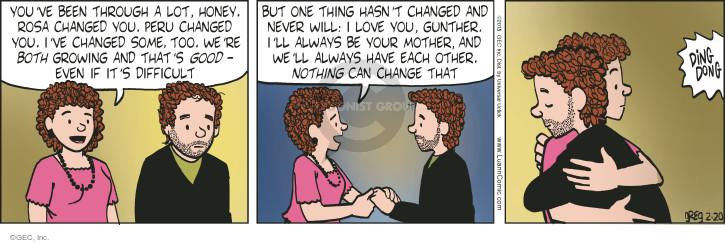 Cartoonist Greg Evans  Luann 2015-02-20 Rosa