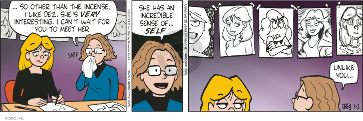 Comic Strip Greg Evans  Luann 2015-03-03 sniff