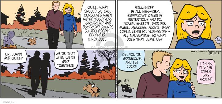 Comic Strip Greg Evans  Luann 2015-03-22 sweetie