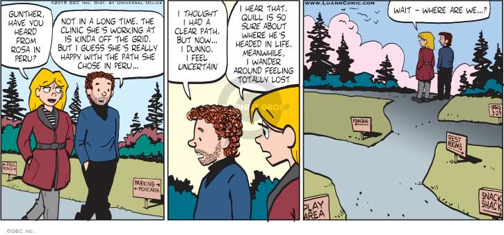 Cartoonist Greg Evans  Luann 2015-03-29 Rosa