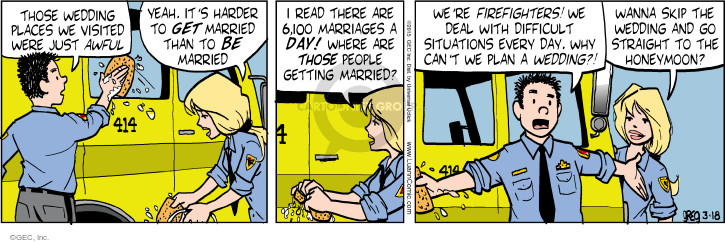 Comic Strip Greg Evans  Luann 2015-03-18 honeymoon