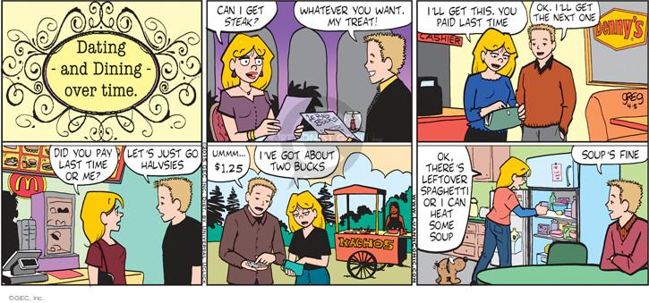 Cartoonist Greg Evans  Luann 2015-04-05 eating out