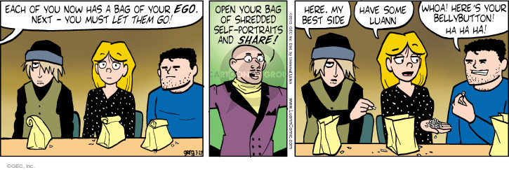 Comic Strip Greg Evans  Luann 2015-03-27 whoa