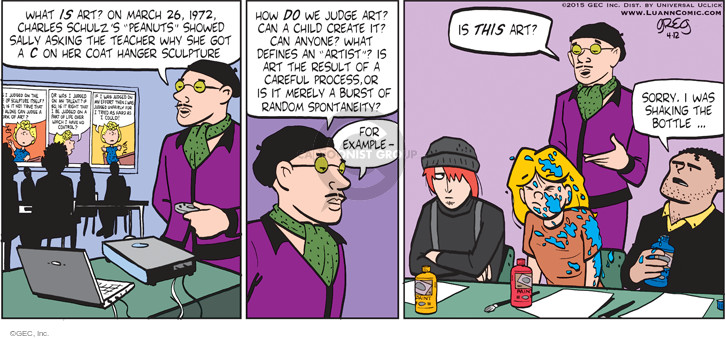 Comic Strip Greg Evans  Luann 2015-04-12 art show