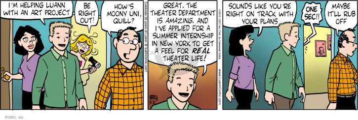 Comic Strip Greg Evans  Luann 2015-03-31 aspiration
