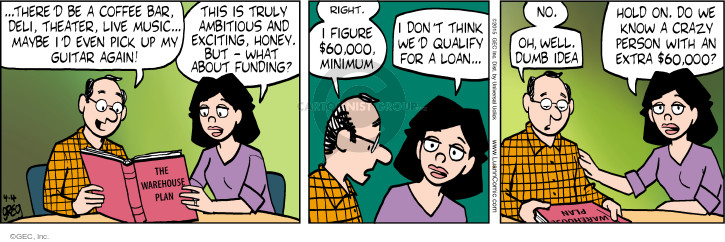 Comic Strip Greg Evans  Luann 2015-04-04 money