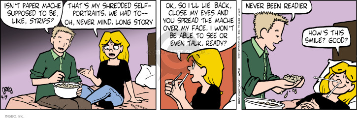 Comic Strip Greg Evans  Luann 2015-04-07 face
