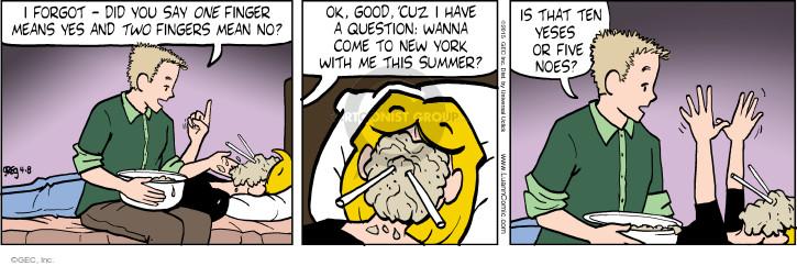 Comic Strip Greg Evans  Luann 2015-04-08 finger