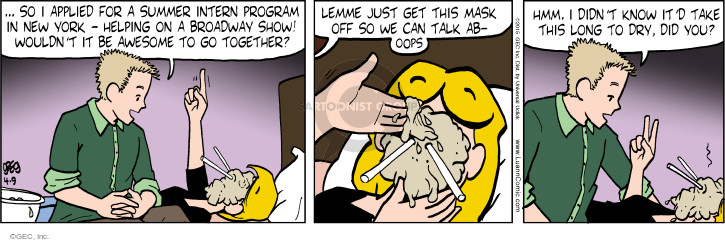 Comic Strip Greg Evans  Luann 2015-04-09 mask