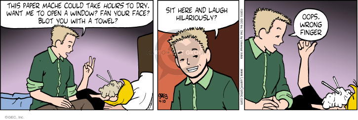 Comic Strip Greg Evans  Luann 2015-04-10 flip