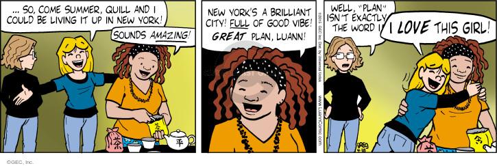 Comic Strip Greg Evans  Luann 2015-04-18 supportive