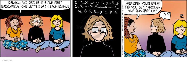 Comic Strip Greg Evans  Luann 2015-04-22 meditation