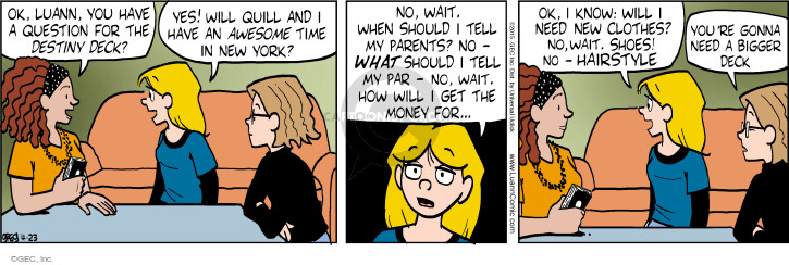 Comic Strip Greg Evans  Luann 2015-04-23 money