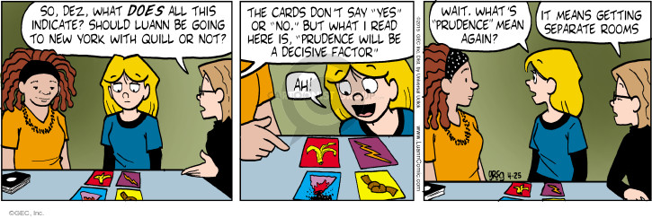 Comic Strip Greg Evans  Luann 2015-04-25 interpretation
