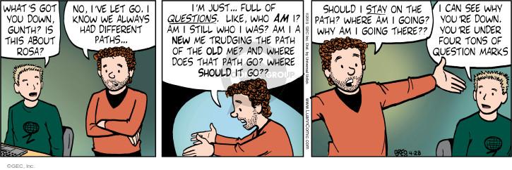 Cartoonist Greg Evans  Luann 2015-04-28 Rosa