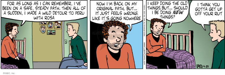 Comic Strip Greg Evans  Luann 2015-04-29 get a life