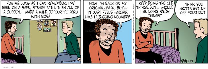 Cartoonist Greg Evans  Luann 2015-04-29 Rosa