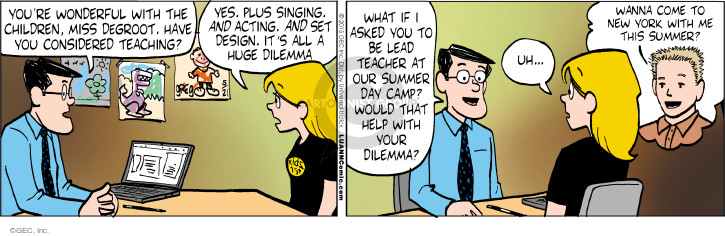 Comic Strip Greg Evans  Luann 2015-05-21 teacher