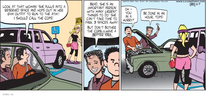 Comic Strip Greg Evans  Luann 2015-06-07 person