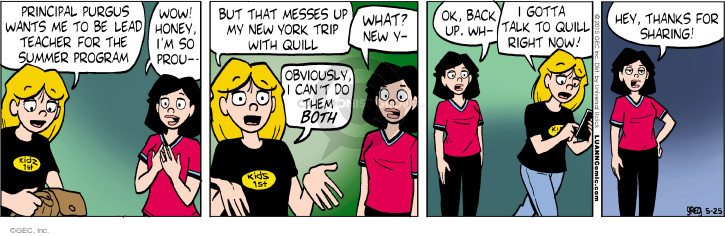 Comic Strip Greg Evans  Luann 2015-05-25 teacher