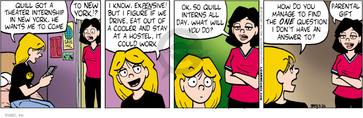 Comic Strip Greg Evans  Luann 2015-05-26 expensive