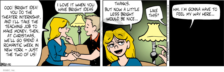 Comic Strip Greg Evans  Luann 2015-05-30 romantic