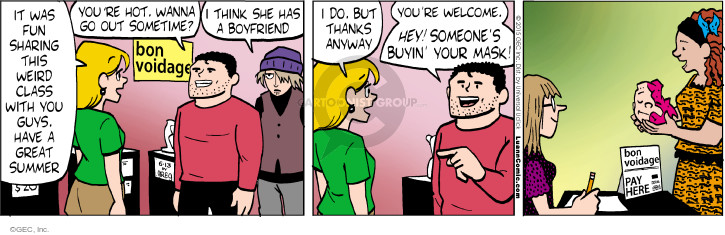 Comic Strip Greg Evans  Luann 2015-06-13 mask
