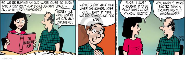 Comic Strip Greg Evans  Luann 2015-06-22 vocation