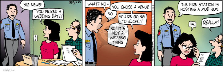 Cartoonist Greg Evans  Luann 2015-06-25 big date