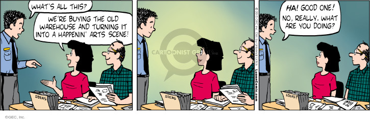 Comic Strip Greg Evans  Luann 2015-06-26 warehouse