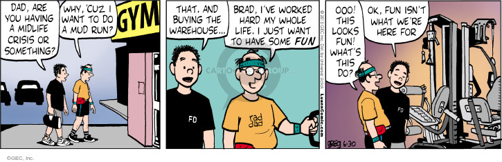 Comic Strip Greg Evans  Luann 2015-06-30 Brad