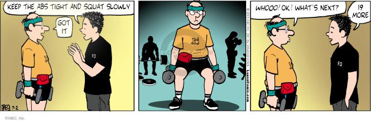 Comic Strip Greg Evans  Luann 2015-07-02 lift