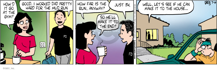 Comic Strip Greg Evans  Luann 2015-07-04 fitness