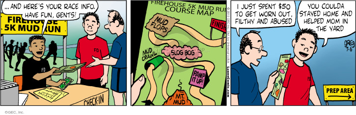 Comic Strip Greg Evans  Luann 2015-07-06 mom