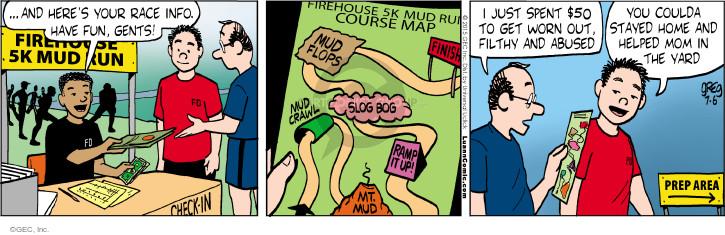 Comic Strip Greg Evans  Luann 2015-07-06 info