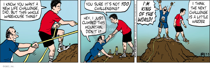 Comic Strip Greg Evans  Luann 2015-07-09 warehouse
