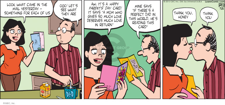 Comic Strip Greg Evans  Luann 2015-07-26 parenthood