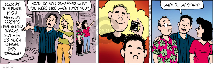 Comic Strip Greg Evans  Luann 2015-07-14 Brad