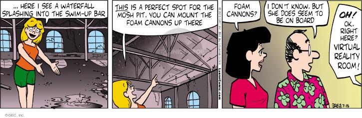 Comic Strip Greg Evans  Luann 2015-07-15 reality