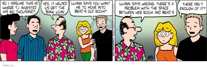 Comic Strip Greg Evans  Luann 2015-07-17 investment bank