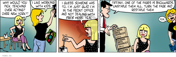 Comic Strip Greg Evans  Luann 2015-07-21 teacher