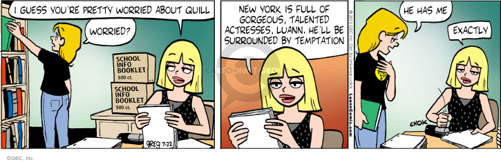 Comic Strip Greg Evans  Luann 2015-07-22 pretty